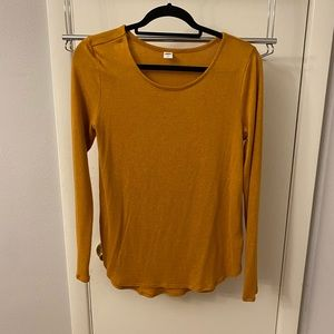 Old Navy Mustard Yellow Long Sleeve